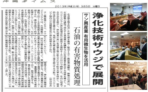 沖縄タイムス記事